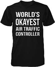 Inked Creatively Worlds Okayest Air Traffic Controller Unisex Tshirt