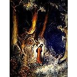 ポスター 神の喜劇ドレ・ダンテの暗い森の地獄を予約する A4サイズ [インテリア 壁紙用] 絵画 アート 壁紙ポスター