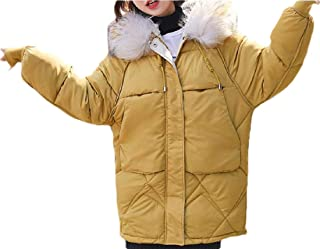 Women's Down Coat Winter Warm Thickened Quilted Parka Jacket with Hood