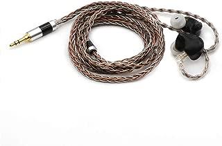 TRIPOWIN C8 8-Core Silver Copper Foil Braided Earphone Upgrade Cable, for KZ ZSN Pro, ZS10 Pro NF2u, QDC Earphones (3.5mm Plug, QDC Connector)
