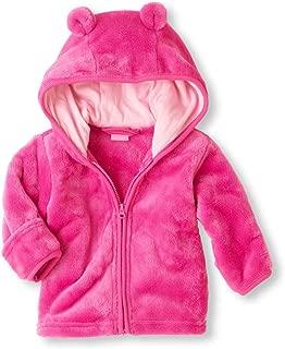 Noubeau Infant Baby Boys Girls Fleece Ears Hat with Lined Hooded Zipper Up Jacket Coat Tops Outwear Overcoat Warm Fall Winte