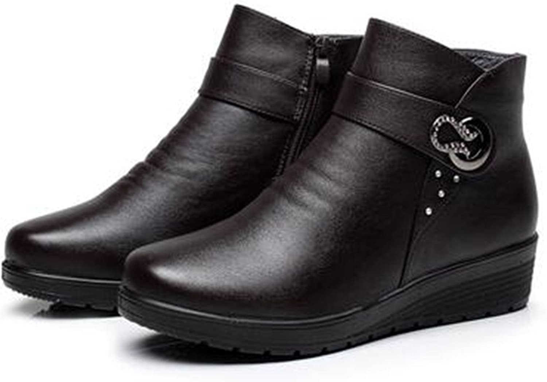 Better Annie snow-boots New Winter Brand Warm Women Ankel Boots Mother Casual shoes Cotton Winter Autumn Boots Female Zipper Boots