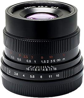 7Artisans 35 mm F2.0 Full Frame manueller Fokus Objektiv für Sony Emount Kameras wie A7 A7II A7R A7RII A7S A7SII A6500 A6300 A6000 A5100 A5000 EX 3 NEX 3N NEX 3R NEX F3K NEX 5 NEX