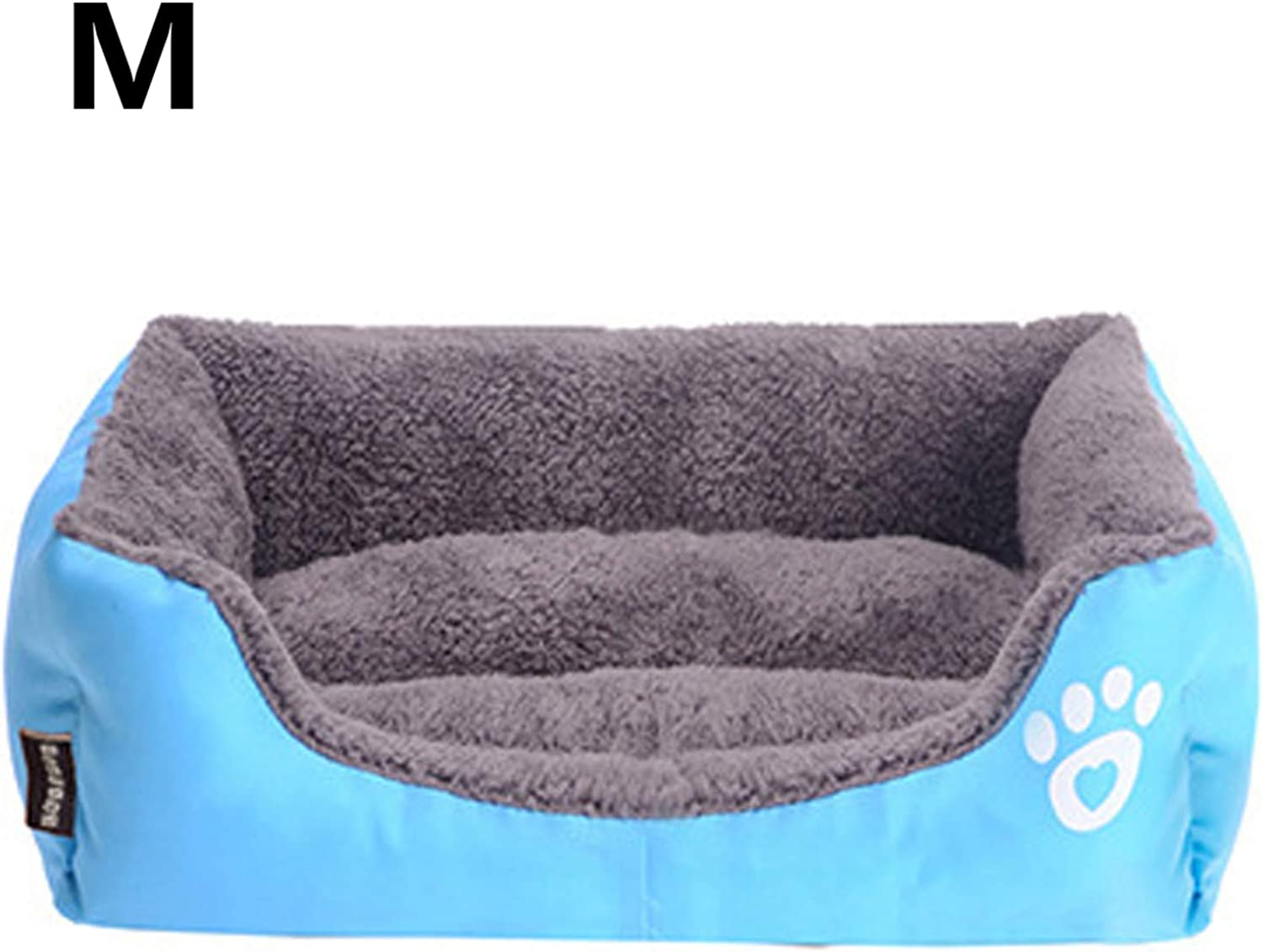 PETFDH Pet Sofa Dog Bed Warming Dog House Soft Material Nest Dog Baskets Fall and Winter Warm Kennel for Cat Puppy bluee 58X45X14cm
