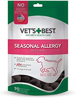 Vet's Best Seasonal Allergy Soft Chew Dog Supplements | Soothes Dogs Skin Irritation Due to Seasonal Allergies | Maintain ...