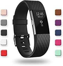 POY for Fitbit Charge 2 Bands, Classic & Special Edition Bands for Fitbit Charge 2, Large Small,Black,White,NavyBlue,Plum,Pink,Over 12 Colors