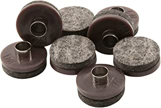 "Nail-On Heavy Duty Felt Pads for Wood Furniture and Hard Floor Surfaces – Protect your Hard Floor Surfaces from Scratches, 7/8"" Round Furniture Protectors, Walnut Brown (8 Pieces)"