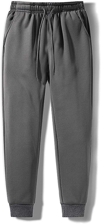 Men's Sweatpants Winter Warm Running Pants Thicken Fleece Lined Skinny Pants Casual Sports Trousers Activewear - Limsea