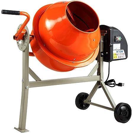 Klutch Portable Gas Cement Mixer Drum 6 Cu Ft