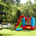XtremepowerUS Premium Kids Inflatable Bounce House Play Center (6 in 1 Play Center) Bouncing House Jump & Slide Mesh Wall w/ Blower