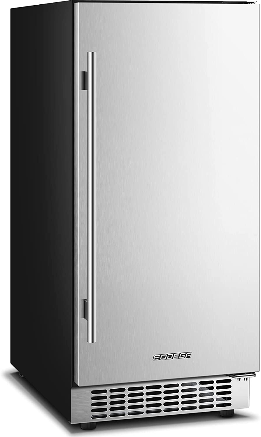 Beverage Cooler 15 Inch, Built-in and Freestanding Beverage Refrigerator 100 Cans, Stainless Steel Under Counter Beverage Fridge with Advanced Cooling System, Adjustable Shelf, Energy Saving, Perfect for Soda, Water, Beer, etc.