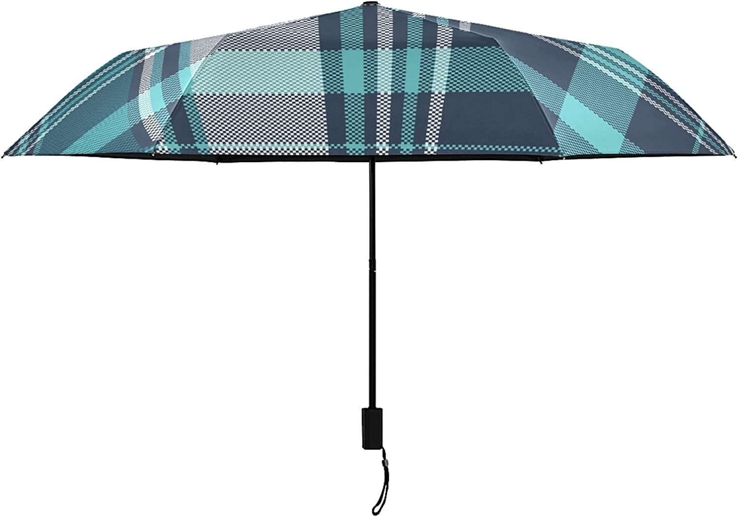 Blue Selling and selling Green Plaid UV Protection Umbrella Women Su for Selling Hot Outside