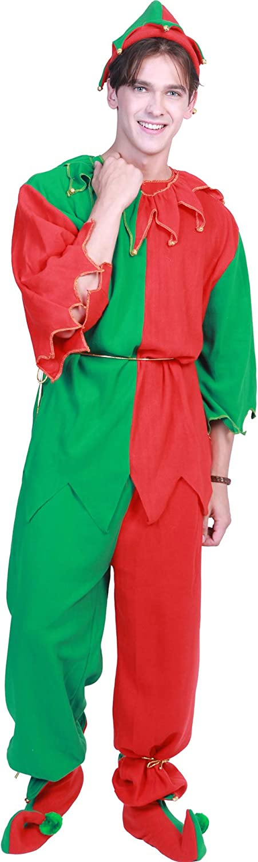 OOFAY Weihnachtself-Kostüm, Weihnachtspaar-Satz-Familien-Feiertags-Party Für Frauen Und Mann,L B07JNLZC5K Spielzeugwelt, glücklich und grenzenlos  | Kostengünstiger