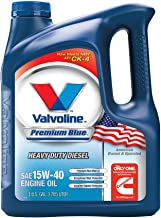 Valvoline Premium Blue SAE 15W-40 Heavy Duty Motor Oil - 1 Gallon (Pack of 3); 773780