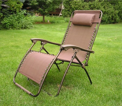 Extra Wide Oversized Brown Zero Gravity Chair