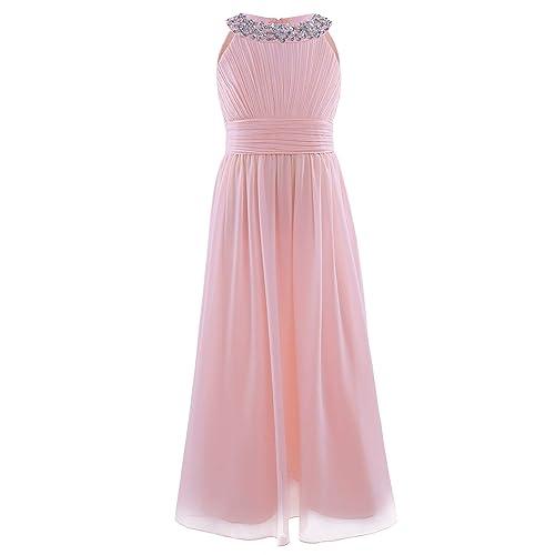 edc90543ce4d Pink Chiffon Bridesmaid Dress  Amazon.co.uk