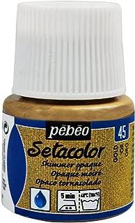 Pebeo Setacolor Opaque Fabric Paint 45-Milliliter Bottle, Shimmer Gold