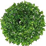 Heatigo Efeu, 15 künstliche Efeu Efeu künstliche, künstliche Pflanze, gefälschter Efeu hängen Weinstock grünen Kranz, verwendet für Hochzeit Familie Garten Wanddekoration, grüner Dill