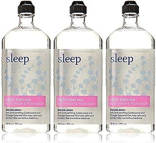 Lot of 3 Bath & Body Works Aromatherapy Sleep Night Time Tea Body Wash & Foam Bath 10 Fl Oz Each (Night Time Tea)