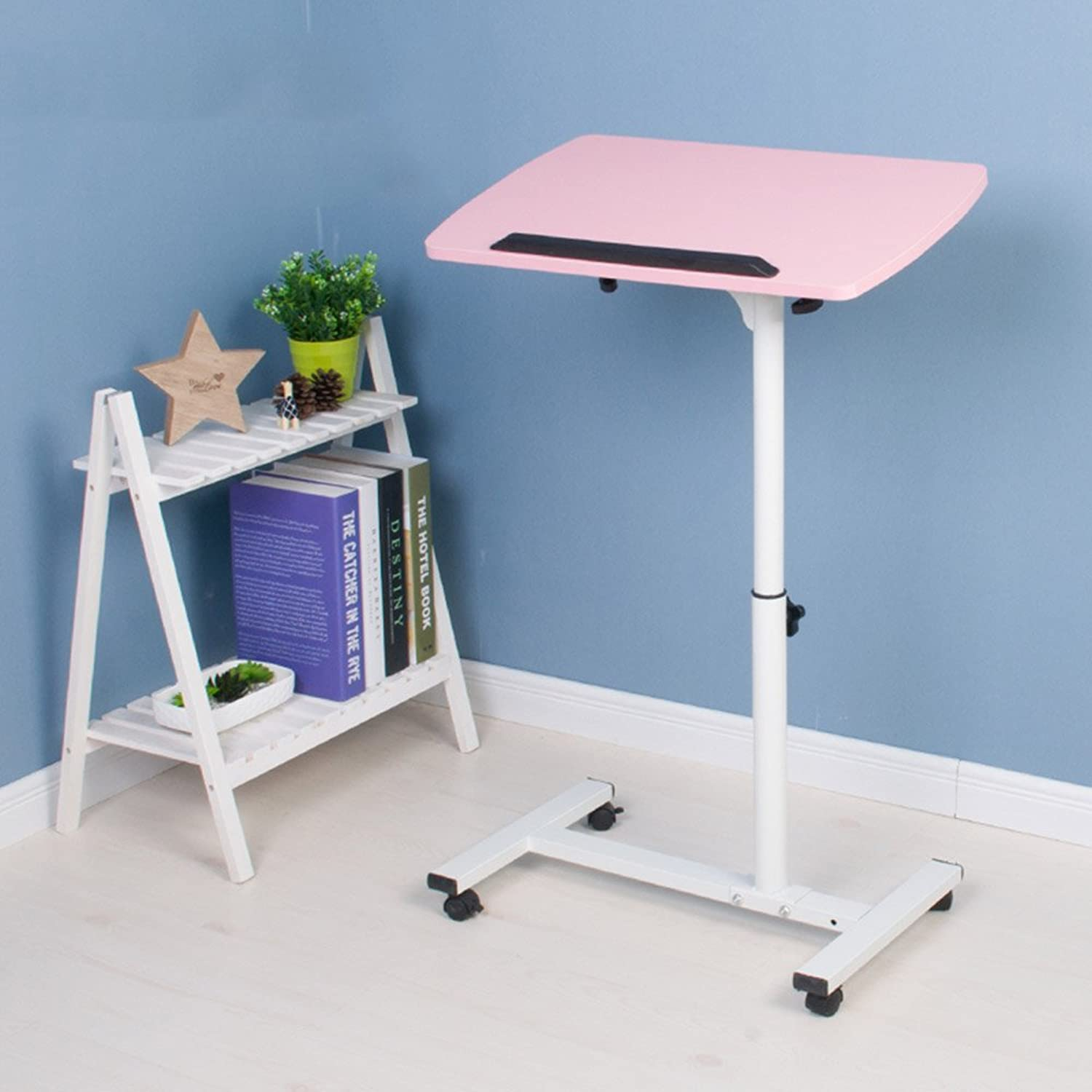 ZZ Folding Table Folding Table Lazy Laptop Desk Household Bed Small Desk 52  62cm (color   B)