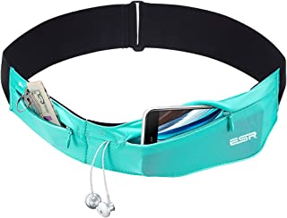 ESR Running Belt Runners Waist Pack Adjustable Stretchy Zippered Fanny Pack with Headphone Port, Fitness Workout Travel Yo...