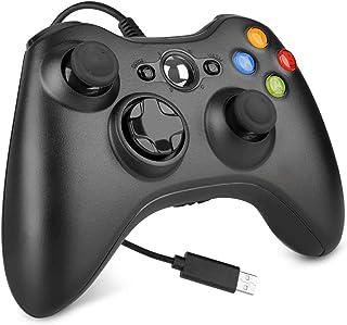 Controle com fio para Xbox 360, joystick de controle de jogo com controle de jogo USB para Xbox 360/360 Slim/PC Windows 7,...