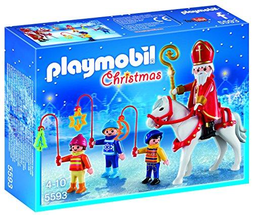 PLAYMOBIL - Christmas San Martín con Niños Playsets de Figuras de jugete (5593)