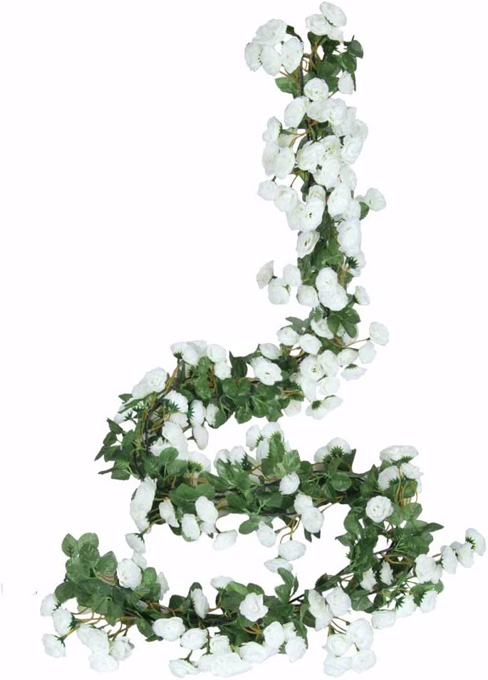 Miracliy 2PCS 69 Ranking TOP14 Heads Fake Flowers Vine Rose Artificial Plants New Free Shipping