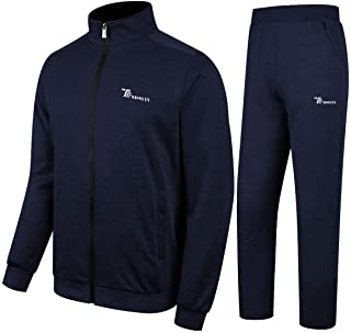 TBMPOY Men's Tracksuit Athletic Sports Casual Full Zip Sweatsuit