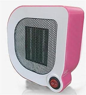 KDLD Calentador ® Mini Calentador de alta calidad de temperatura constante PTC Calefacción Protección contra sobrecalentamiento Temperatura automática ABS Material Radiador 500W, Rosa