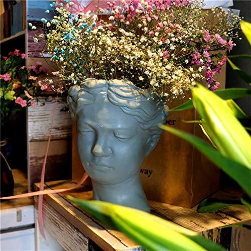 JXXDDQ Ornements de Jardin Vénus Déesse Fleur Pot Statue Jardin Ciment étanche Yard Paysage Pelouse Décoration Artisanat Cadeau - 19 * 17,5 * 23.5cm