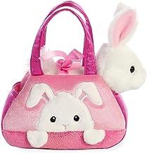 Aurora- Fancy PAL Bolso con Conejo Rosa Peluches y muñecas, Color Blanco (61015)