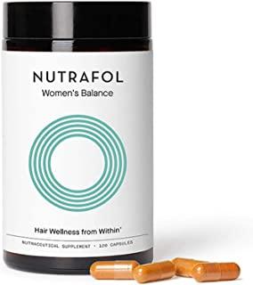 Nutrafol Women's Balance Hair Growth Supplement For Thicker, Stronger Hair Peri- and Postmenopause (4 Capsu...