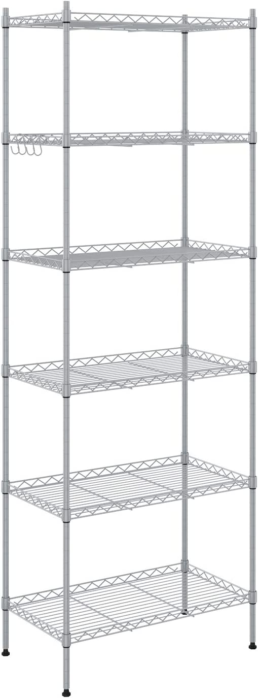 Devo Max 43% OFF 6-Shelf Wire Shelving Unit Storage Adjustable Duty R shop Heavy