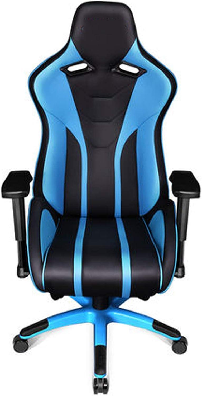 Gaming président Haut de Gamme Reclining Chaise Informatique Dossier Lipides Chaise de Bureau Chaise de Bureau Ergonomique Bow Métier Blue Blue