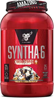 BSN Syntha-6 Whey Protein Powder, Cold Stone Creamery- Birthday Cake Remix Flavor, Micellar Casein, Milk Protein Isolate Powder, 25 Servings
