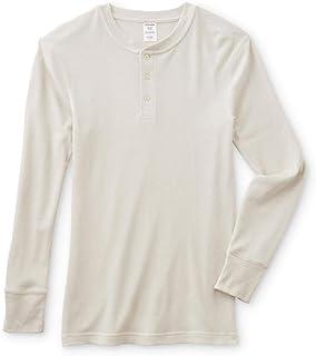 JOE BOXER Men's Thermal Henley Long Sleeve Shirt Off White Small, Medium, Large