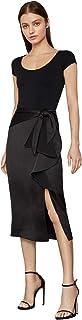 BCBGMAXAZRIA Women's Midi Wrap Waist Skirt