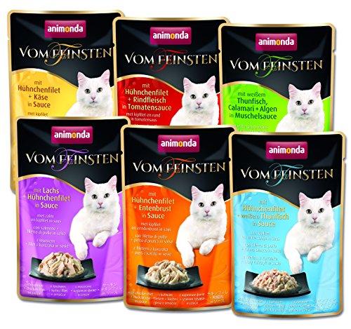 animonda Vom Feinsten adult Katzenfutter, Nassfutter für ausgewachsene Katzen, im Frischebeutel, Filet Kreationen, 6 x 50 g