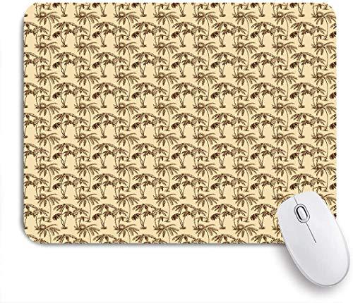 Aliciga Gaming Mouse Pad Rutschfeste Gummibasis,Tropische Palmen Hawaiian Exotic Abstract Laub Altes Papier Hintergrund Design,für Computer Laptop Office Desk,240 x 200mm