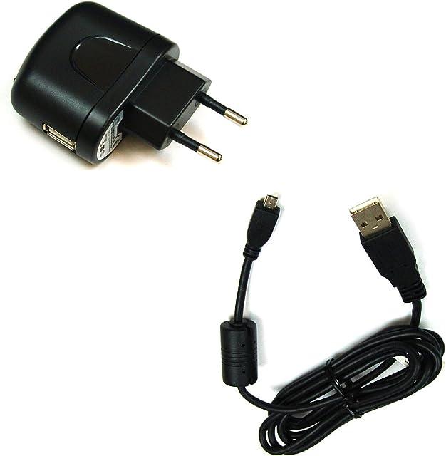 BG de akku24Cargador y cable de carga cable de datos cable USB para Panasonic Lumix DMC-XS1 DMC-FS45 DMC-FS50 DMC-SZ1 DMC-SZ3 DMC-ZR1SZ5 SZ7 SZ8 DMC-FH1 DMC-SZ9 SZ10