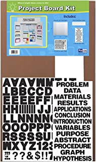 Flipside Project Board Kit with Black Letters and Titles, 36 x 48 Inches, White