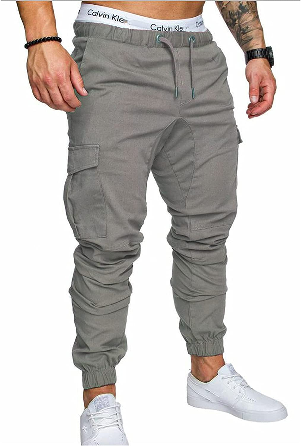 Easy-to-use raillery Men's Cotton Cargo Minneapolis Mall Pants Casual Fit Slim Jogger