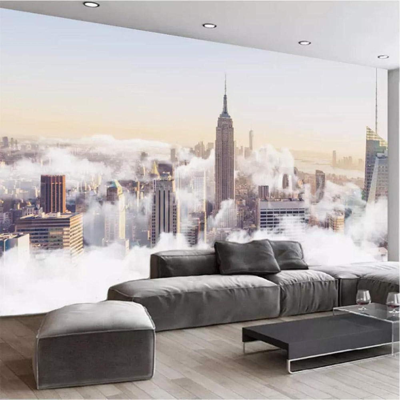 祈りホスト木曜日Hershop カスタム写真の壁紙3D都市建物雲壁画レストランカフェリビングルームテレビソファ背景壁絵画