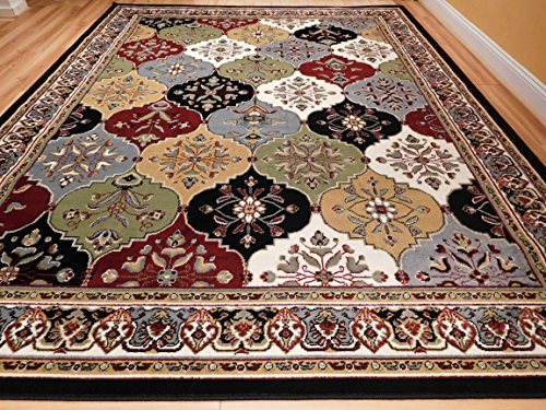 New Multi-Color Panal and Diamonds Area Rug 5x7 Rugs for Living Room Under 50 Turkish Pattern Carpet, 5x8 Feet
