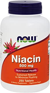Now Foods - Niacin Time Release Vegetarian 500 Mg. 250 Tablets