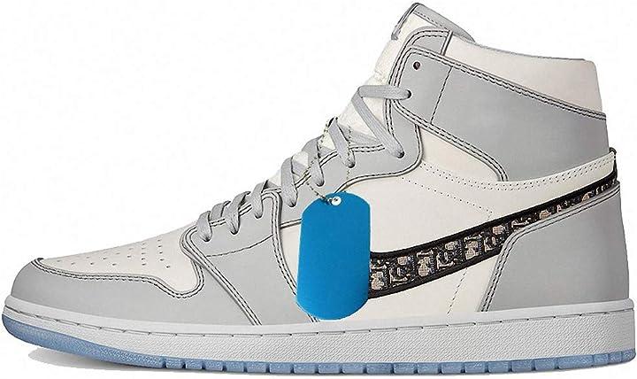 Simil air jordan dior scarpe da basket fitness unisex basketball sneakers scarpe da ginnastica uomo donna B08TQBWC4V