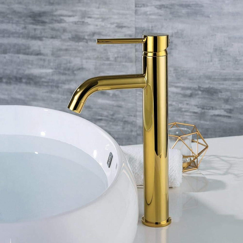 Wasserhahn Goldfarbe Waschbecken Mischbatterie Montiert Goldabdeckung Wasser Mischbatterie Stil Runde