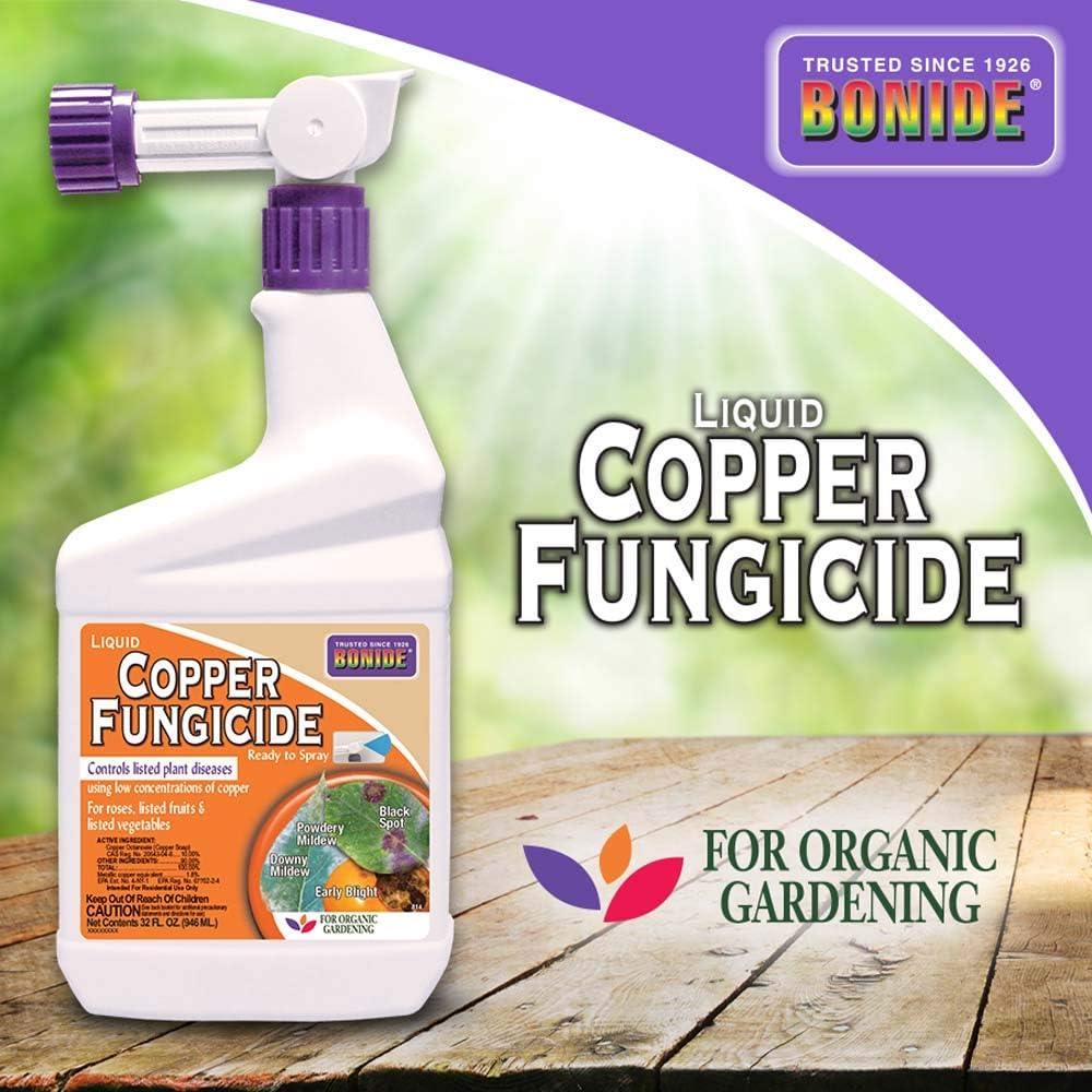 Bonide 814 Copper Fungicide, 32 oz, White, Orange