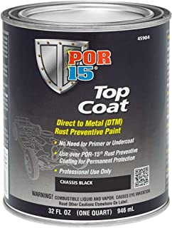 POR-15 45904 Top Coat Chassis Black Paint, 32. Fluid_Ounces